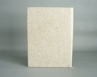 Blank Writing Journal Diary Book With Floral Embossed Cover