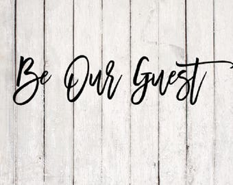 Guest SVG | Guest Cut File | Silhouette Files | Cricut Files | SVG Cut Files | PNG Files