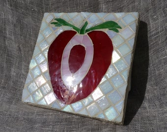 Mosaic Strawberry Trivet