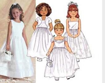 Butterick Dress Pattern 3351 - Flower Girl's Dress and Jacket - SZ 2/3/4/5