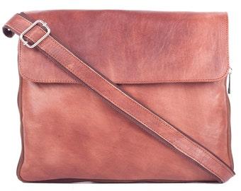 Leather bag shoulder crossbody leather bag vintage