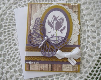 Handmade Greeting Card: Any Occasion/Wedding/Engagament/Bridal Shower