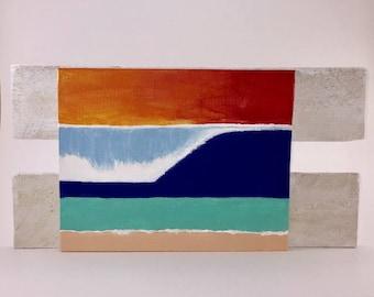 Surf beach wave wall art