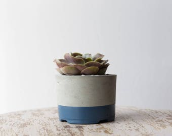 Large Concrete Planter, Slate