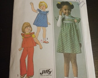 Jiffy Simplicity sewing pattern size 5 vintage dress