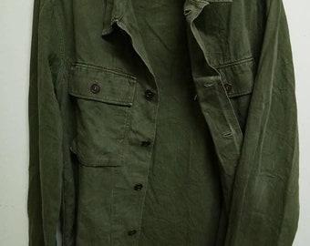 Vintage Army Herringbone Double Pockets