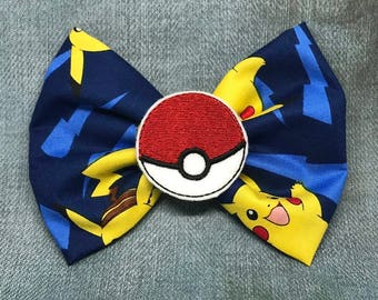 Poke-mon Pokeball Hairbow