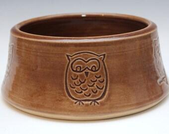 Owl Dog Bowl