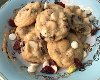 Pistachio Cranberry White Chocolate Chip Cookies - 1 Dozen