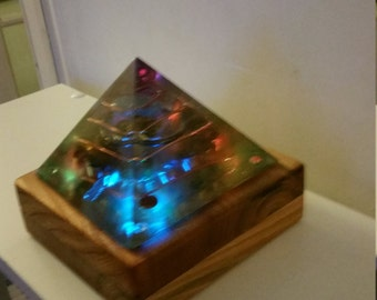 Spiritulite  pyramid with led lights