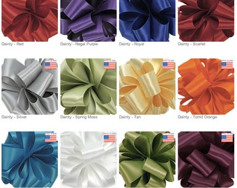 "1/8"" DF SATIN - Dainty Double Face Satin by Offray - 30 yards - Select Color - Narrow Ribbon"
