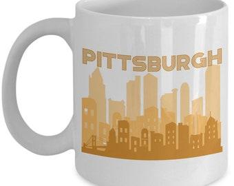 Pittsburgh City Coffee Mug - Funny Tea Hot Cocoa Cup - Novelty Birthday Christmas Anniversary Gag Gifts Idea