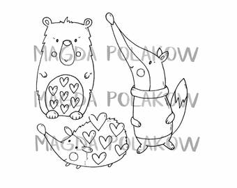 05 Rubber stamps. Unmounted. 3 stamps. Magda Polakow stamps. December 2017 release. Stamps.