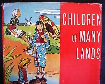 Children of Many Lands colorful vintage story book 1960 Platt Munk Japan Hawaii