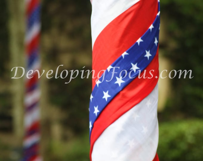 July 4th American Flag Photography Card or Print, Patriotic Photography Art, Stars and Stripes Photography Art Print, Independence Day Photo