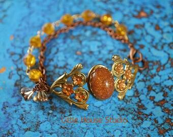 Victorian, Filigree, Victorian Bracelet, Amber Bracelet, Jewelry, Gift for Mom, Bracelet, Amber, Victorian Filigree, Victorian Filigree