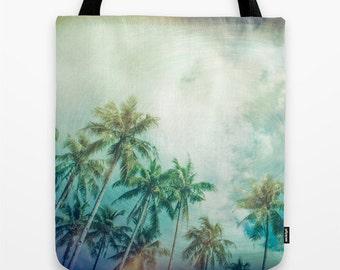 Palmtree Tote Bag, Palmtrees, Tropical Bag, Travel Bag, Original Photography, Art Bag, Travel Photography, Holiday, Vacation, Sky, Unique