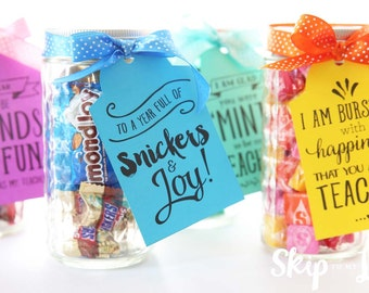 Back to school printable gift tags for teachers