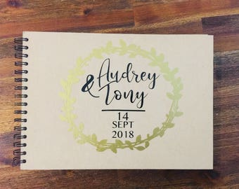 Personalized kraft guest book