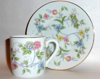Vintage Andrea by Sadek Porcelain Corona Tea Cup & Saucer 8530