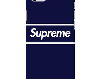 Supreme Simple Line Navy Custom Hard Phone Case for iphone 5,6,7,8,X Samsung Galaxy S8, Note 8, LG G6, V30