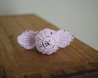 Pink Distressed Metal Drawer Knobs, Drawer Pull, Cabinet Pull, Cabinet Knobs