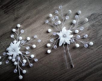 Handmade, Floral Bridal Hair Accessories, Bridal Hair Wear, Bridal Hair Pins