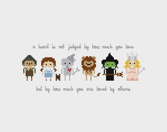 The Wizard of Oz Quote Cross Stitch Pattern PDF Instant Download