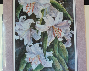 Limited Edition Lithograph of Lilies/Floral Lithograph By Charlotte Picone Artist Litho/Signed