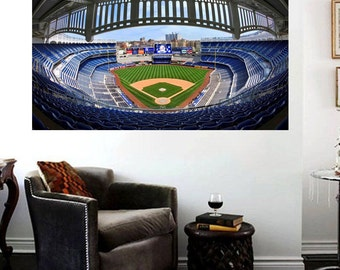 Yankee Stadium Canvas Art Print Yankee Stadium Panoramic Effect  Large 36 x 24