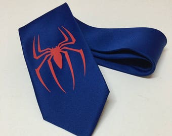 Spiderman on Blue Necktie