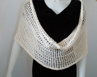 Multi Purpose Wrap Pattern to wear as Circle Scarf, Shawl, Shrug, Capelet, Cowl, Hooded Cowl, Mini Poncho or Bathing Suit Cover Up Skirt