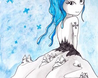Ana Dess in Elsa (Snow Queen)- Original drawing