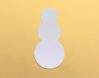 Snowman Card Stock Paper Cut Outs - tiny or giant!