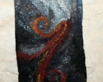 Hand felted pouch / case 'Universe'