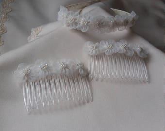 Headband and comb set