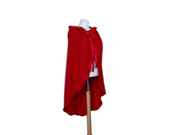 red riding hood cape, cape with hood, capes and cloaks, hooded cape, cosplay cape, short cape, medieval cape, cosplay costume, red cape