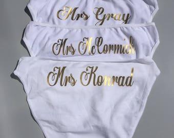Braut-Höschen, Braut Hose, Braut Höschen, personalisierte Hose, Braut Unterwäsche, Braut Höschen, Braut Brifes, Braut Höschen