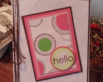 Blank Hello Greeting Card