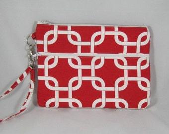 Red and white iPad mini case