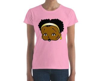 Esther Jones Women's short sleeve t-shirt Natural Hair shirt original boop