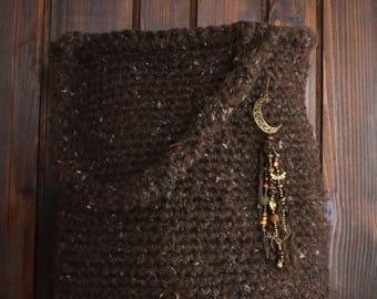 Boho bag with tassel, handbag, crochet bag, handmade bag