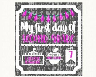 Back to School Svg - Pre K Svg - First Day of Pre K Svg - First Day of School Svg - 1st Day of School Svg - School Svg
