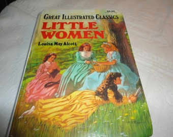 Little Women Hardcover Book By Louisa May Alcott Adapted Version By Lucia Monfried Great Illustrated Classics