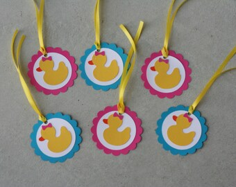 12 Rubber Duck Favor Tags, Rubber Ducky Favor Tags, Rubber Duck,Duck Birthday, Ducky Baby Shower, Rubber Duck Baby Shower, Baby Shower Favor
