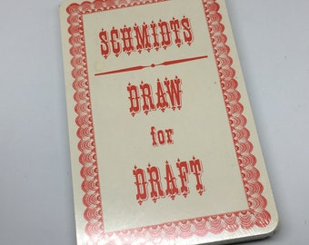 Schmidts Draw for Draft Playing Cards - Giant Deck of Schmidts Promotional Giant Playing Cards - Schmidts Brewing Deck of Cards