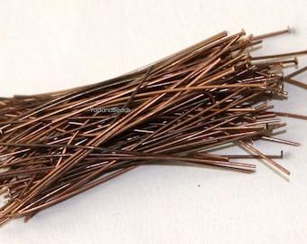 100 antiqued copper headpin 24 Gauge 1.75 inch