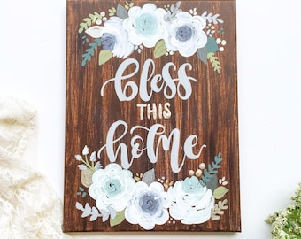 Bless this Home, Wall Art, Rustic Home Decor, Housewarming Gift, Wall Decor, Gift Idea, Gift for Her, Kitchen Decor, Mom Gift, Wife Gift