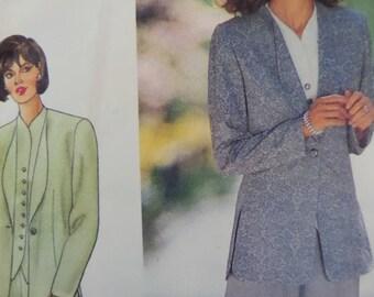 STRAIGHT LEG PANTS Pattern • Butterick 4202 • Miss 12-16 • Split Hem Jacket • Fitted Top • Sewing Pattern • Womens Pattern • WhiletheCatNaps