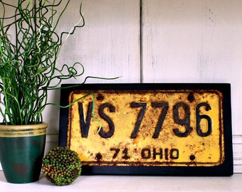 OHIO State License Plate | Wall Decor | Vintage Ohio License Plate | 1971 Ohio License Plate | Ohio License Plates
